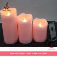 Candle supplier pink party blow on/off led candle
