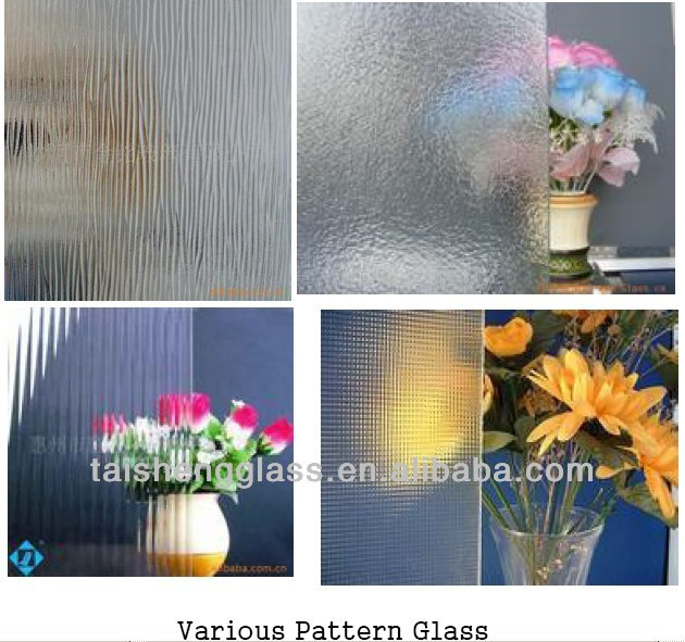 Tempered Pattern glass in Chinchilla Pattern and Rain-b Patttern and Rain-S and Mistlite Pattern manufacturer