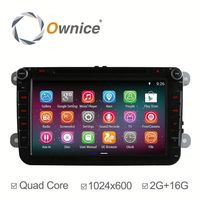 Ownice quad core Android 4.4 up to android 5.1 car gps navigation for VW passat CC built in wifi DDR3 2G RAM HD