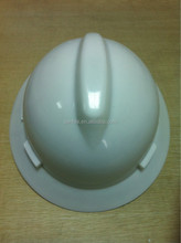 WHITE ANSI FULL BRIM SAFETY HELMET