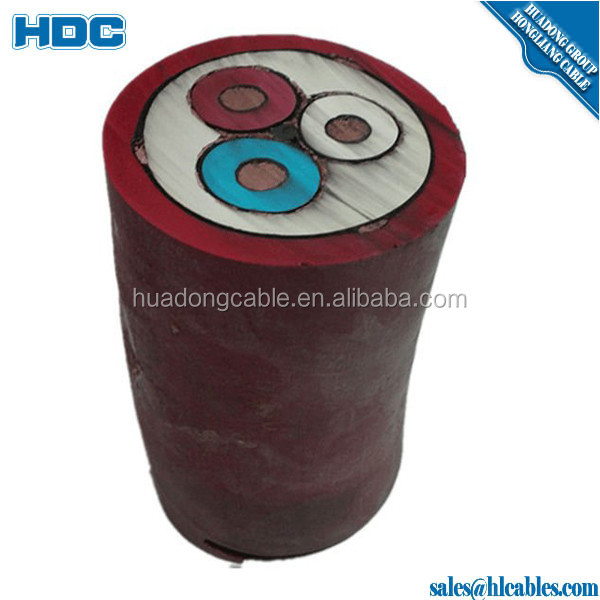 submersible oil pump Submersible Motor Flat Cable Polypropylene insulation copper conductors armored with galvanized steel strip