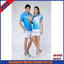 Casual polo shirt cheap manfacturer hot sale badminton jersey design 100%polyester sport wear for badminton