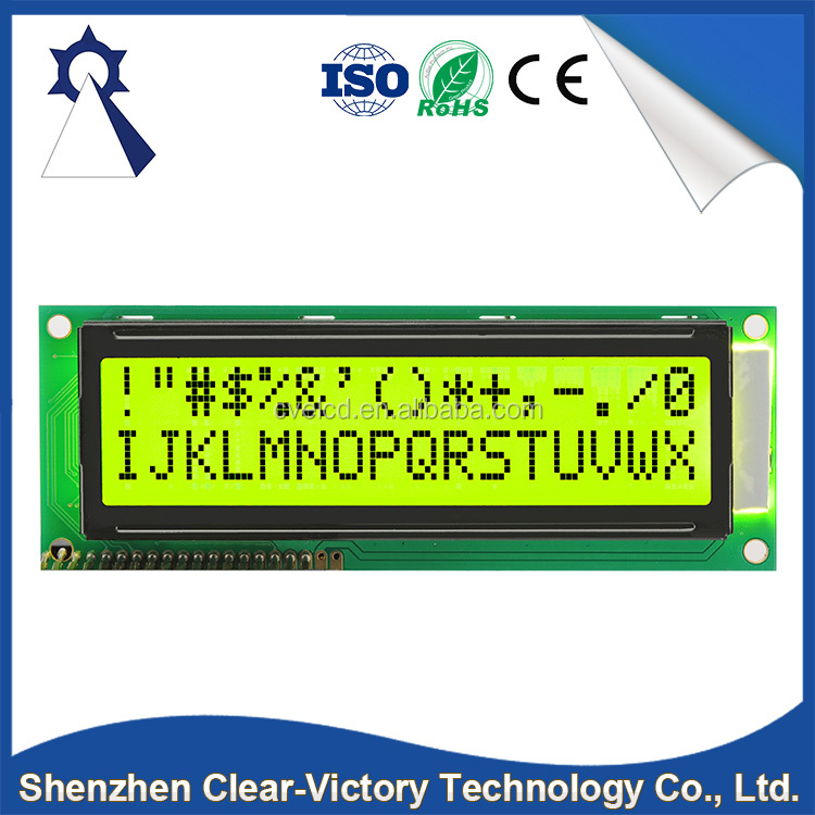 Factory direct sale high quality electronic single line lcd display module