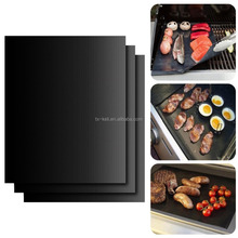 "13""x15.75"" 0.20mm FDA approve PTFE coated fiberglass Non-stick BBQ Grill Mat"