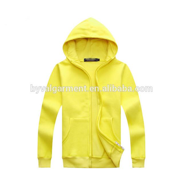 Cheap wholesale plain blank cotton polyester fleece hoodie custom white zipper hoodie