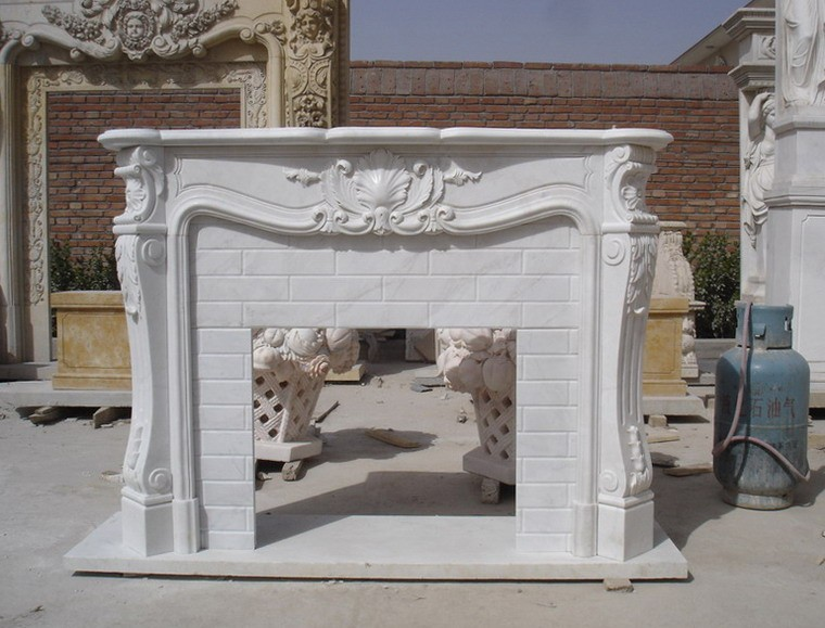 French style white marble fireplace mental for sale buy for Marble mantels for sale