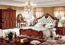 new villa design red color home furniture american style bedroom style made in china
