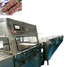 zigzags decorating chocolate enrobing machine with granule sprinkler
