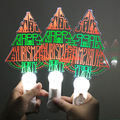 Festival Decoration Led Flashing Light Stick Christmas Tree shape Acrylic Led Stick