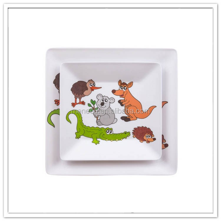wedding decoration square melamine plates