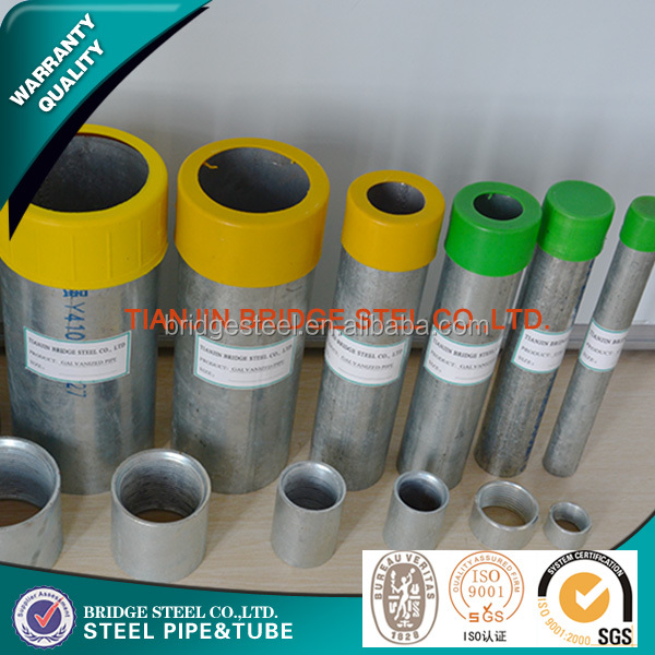 BridgeSteel Wholesale Alibaba Threaded Building materials galvanized pipe for greenhouse