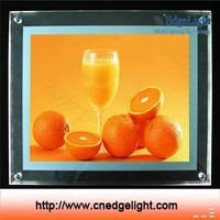 Edgelight CF2A Shop Signage interior decoration double sided plexiglass frame light box hot sale