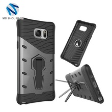 2 in 1 PC+TPU material Mobile Phone Case with rotation holder For Samsung Galaxy Note 5
