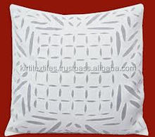 KTCC-13 Applique Work Indian Traditional Cushion Covers From Jaipur Manufacturar Designer Cutwork Cotton Fabric Home Furnishing