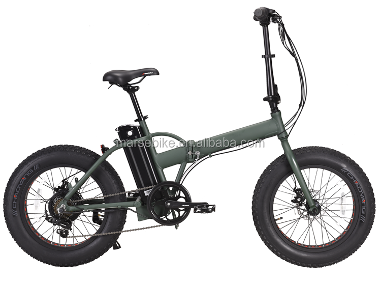 "20"" folding beach cruiser electric fat bike"