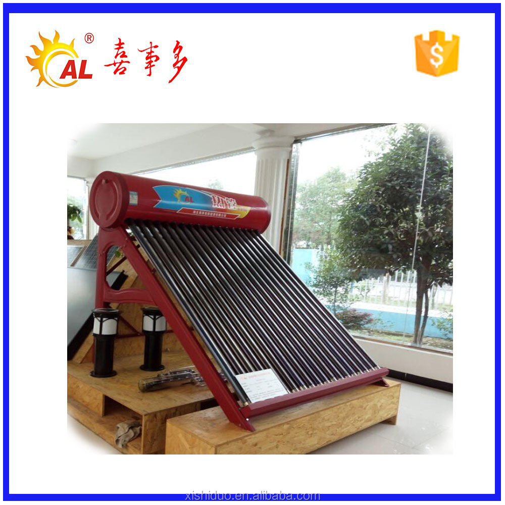 Low prices glass line evacuated tube solar water heater in india
