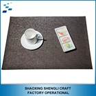 PVC Form Leather custom table place mat woven dining anti-slip mat
