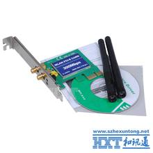 PCI Express PCI-E 11n 802.11b/g/n 300Mbps 300M WiFi Wireless Card Lan Network Antenna Adapter