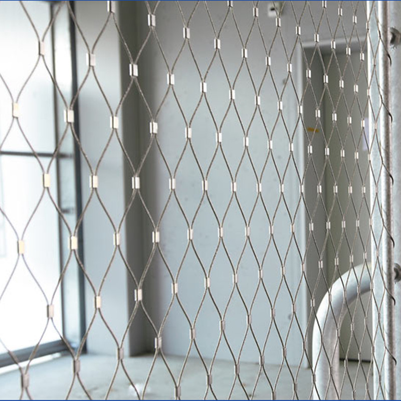 Ferruled Wire Rope Mesh For Anti-theft Rope Net Bags/furruled Cable ...