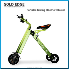 2017 new arrival cheap price 3 wheel motor electric china folding bike