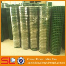 Chine export 1x1 pvc pet cage mesh coated welded wire mesh good quality