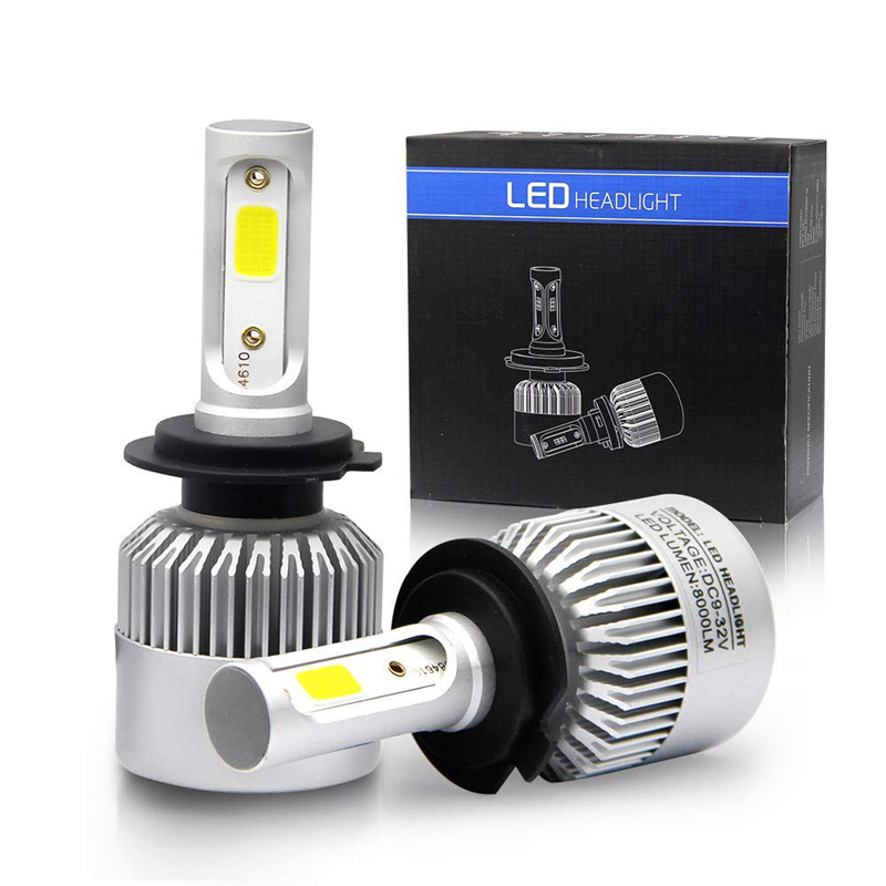 auto lighting system S2 cob car h7 led headlight bulbs 9005 9006 h1 led light h4 h7 h11 72w 8000lm led headlight