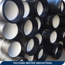 Iso 2531, En598 K9 6 Meters ductile iron pipe c30 With Bitumen Coating Outside