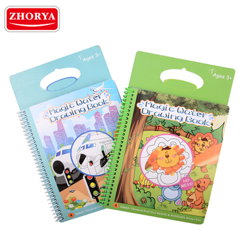 zhorya kids drawing toy set Magic spray cute animal water aqua doodle with 2 pens