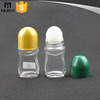 50ml deodorant glass container with plastic roll ball