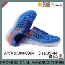 Original Factory With App Control Popular Flyknit Material Adults Flashing LED Shoes for men