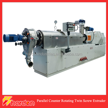 1500kg/h Parallel Counter Rotating Twin Screw PVC Extruder and Compounder