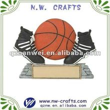 Resin basketball with shoes awards