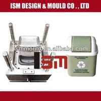 supply recycling plastic rubbish mould, make plastic trash can molding