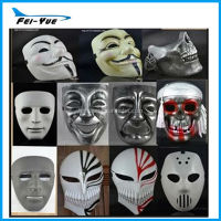 Eco-friendly Plastic Yellow and White color Revenge V Shape face mask