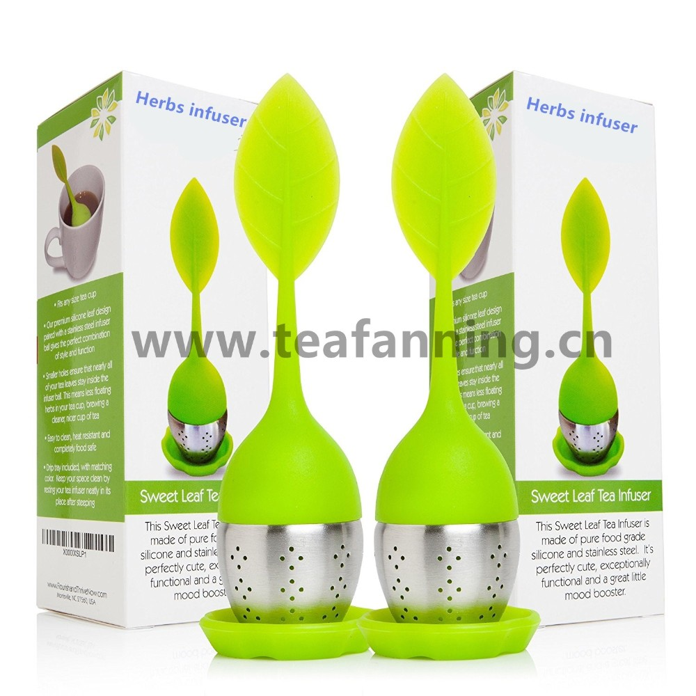 Tea Infuser Leaf Strainer Handle with Stainless Steel Ball Mesh Silicone Tea Infuser