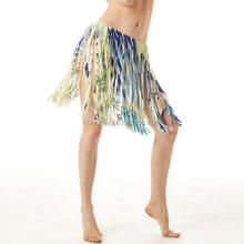 Personalized printing tassel Grass skirts Belly dance beach skirt