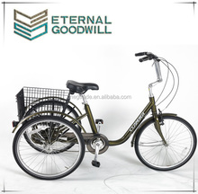 CE European hot Sales 3Wheels 6Speeds Strong Tricycle cargobike/Cargo Tricycle Bike Model GW7012