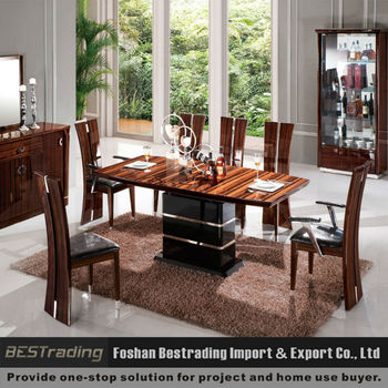 Modern wood latest dining table designs buy dining table for Latest wooden dining table designs