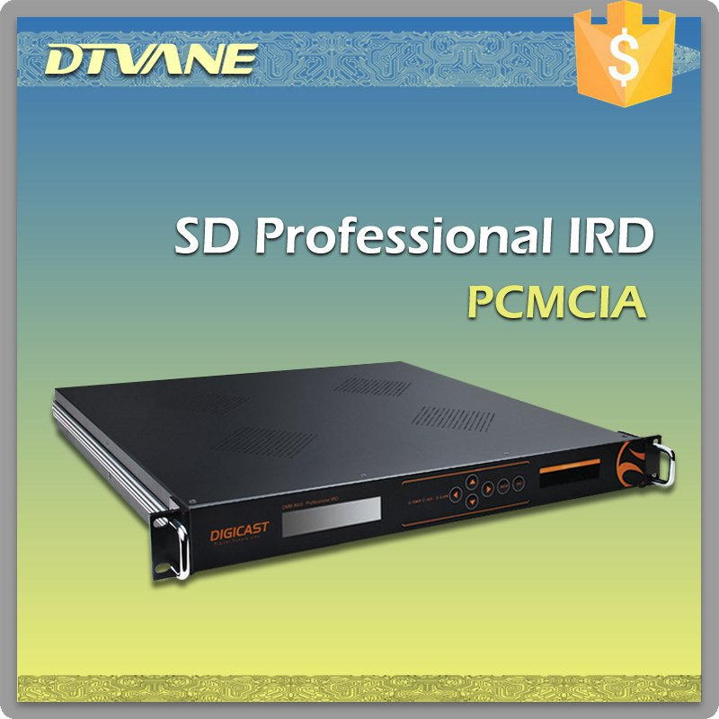 Top Quality SD MPEG 2 IRD Professional IRD with IP in and out CVBS and SDI out Integrated sat SD ird