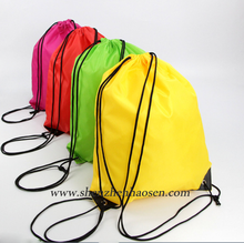 Wholesale Outdoor Hiking Sports Travel Polyester Drawstring Backpack Bag
