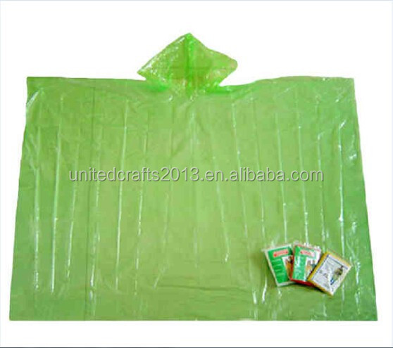 Top quality emergency disposable plastic ponchos