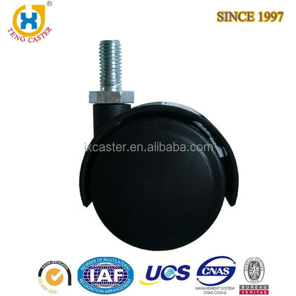 Popular Wholesales 2 Inch Black PA Furniture Hardware <strong>Roller</strong> Caster Wheel