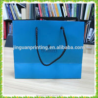 High Quality Matt Shopping Paper Bag/Fashionable Clothing Packaging Bag/Boutique Shopping Paper Bag with Rope Handle