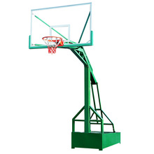 Portable Height Adjustable Steel Base Indoor/Outdoor Basketball Stand/System