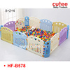 8+2+4 Colorful Plastic Baby Play Fence,Baby Safety Playpen,Baby Play Yard