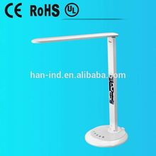 Foldable LED light source table lamp classic style with HD VA LCD calendar display