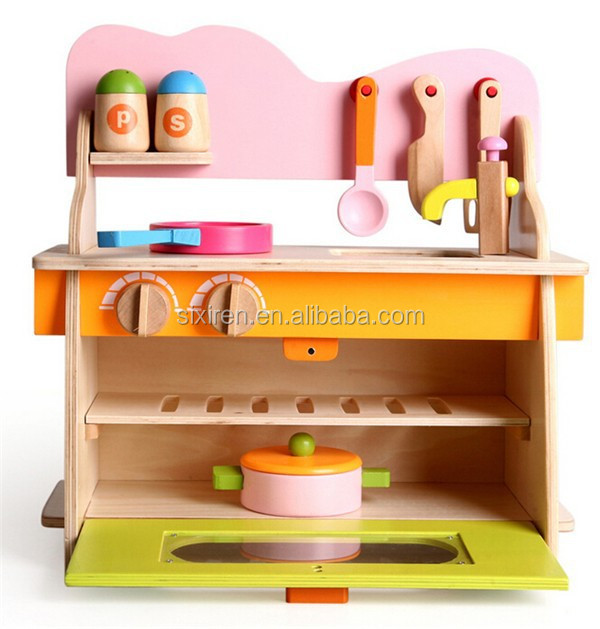 children toys new 2016 style Simulation Stove Design Wooden toy kitchen