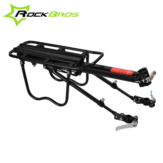 ROCKBROS Bicycle Rear Rack Bicycle Travelling Luggage Carrier Quick Release Alloy Bike Rear Carrier Cycling Luggage Rack Black