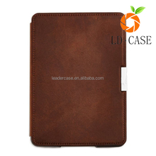 Waterproof wearable anti-fingerprint smart Leather Case Protective Cover For Kindle oasis