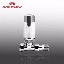 Avonflow Straight Thermostatic Mixing Chrome Valve For Radiator